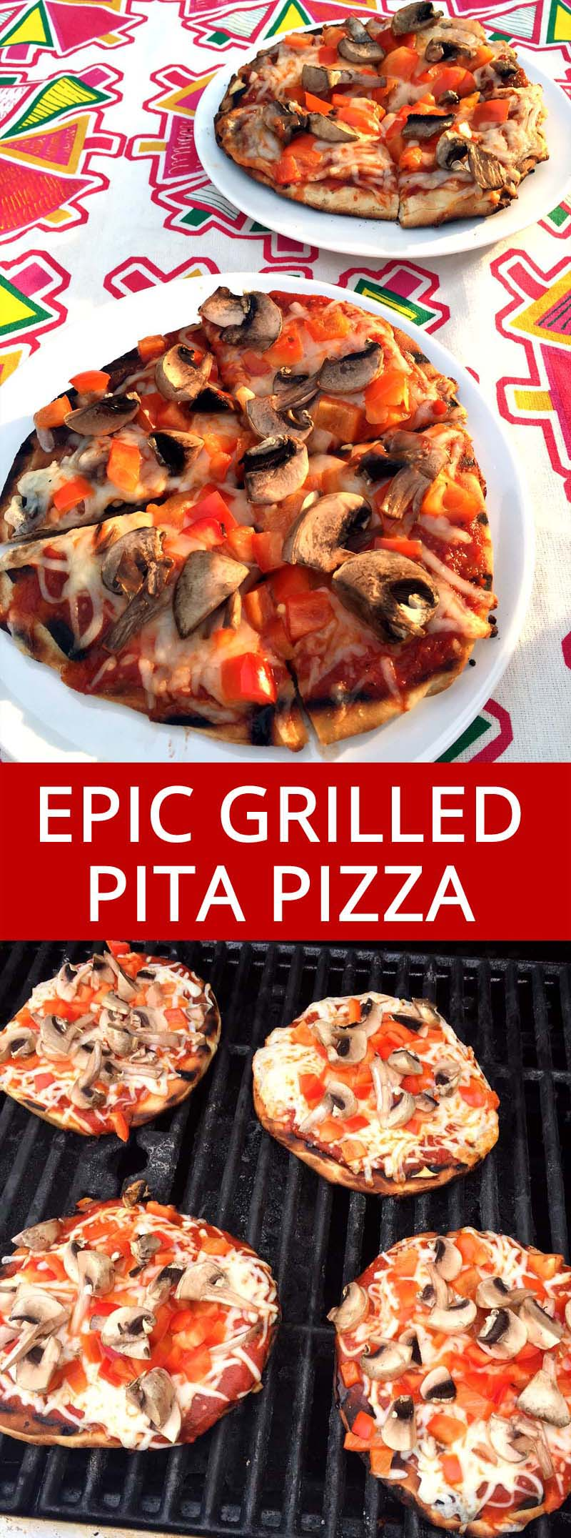 I love this grilled pita pizza! It's so easy to grill pizza this way! I'm going to make it every week this summer!
