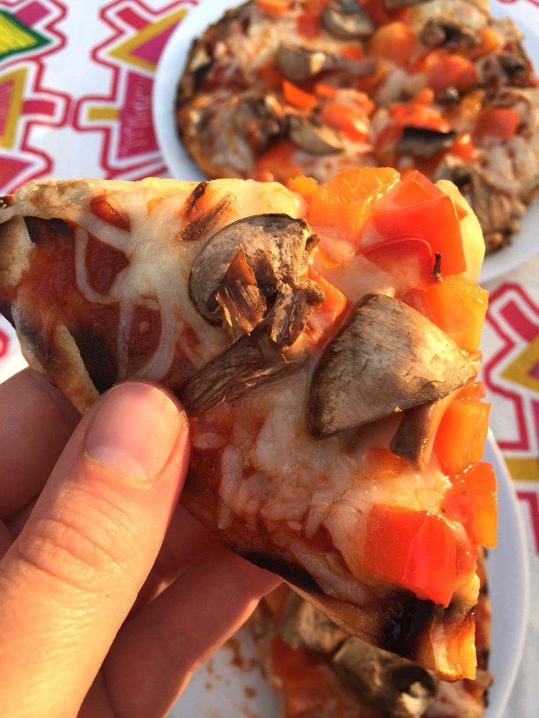 Grilling Pita Pizza