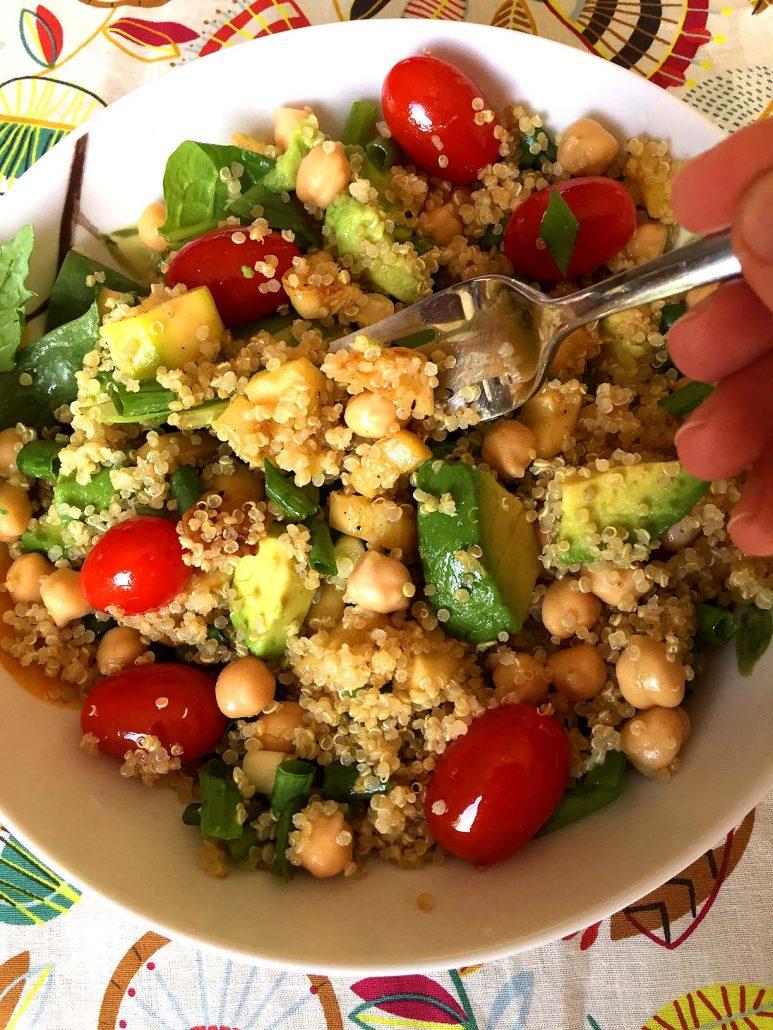Quinoa Chickpea Bowl Salad