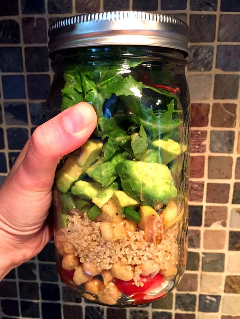 How To Make Quinoa Mason Jar Salad