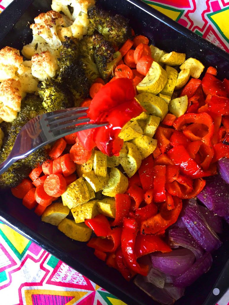 How To Make Rainbow Roasted Vegetables