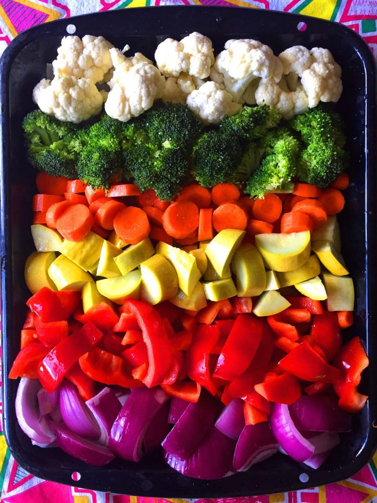 Rainbow Veggies Recipe