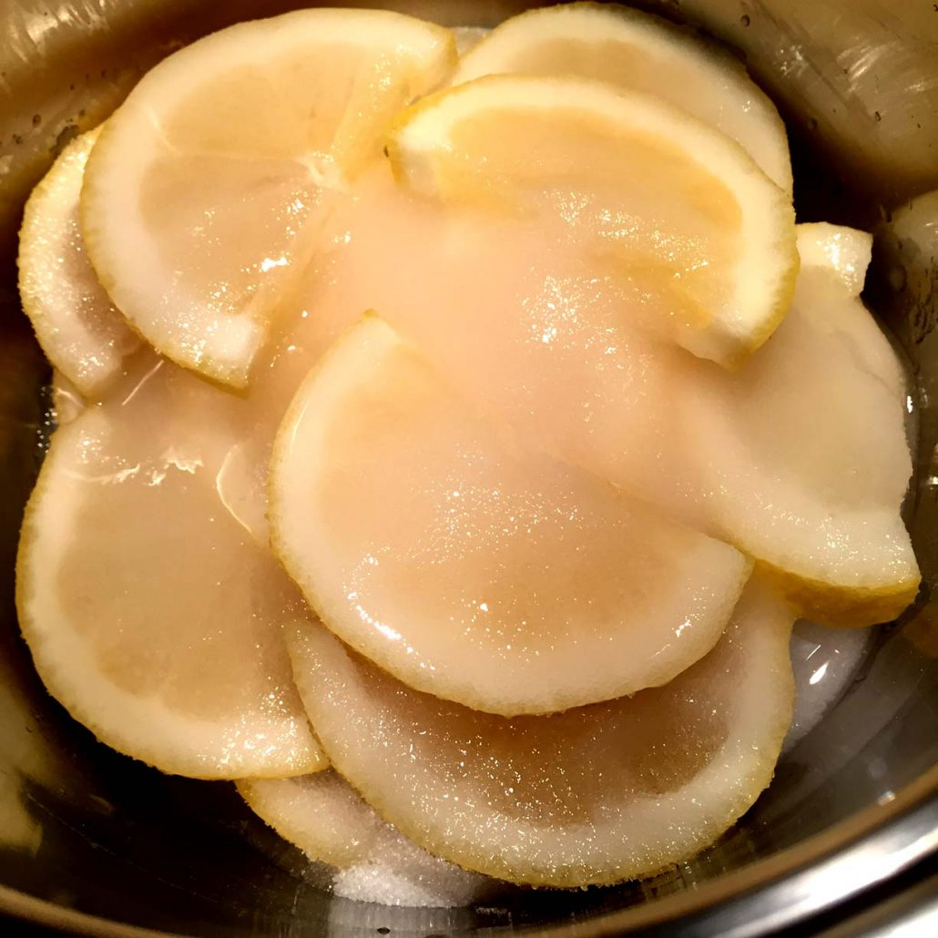 Making Candied Lemon Slices And Peels