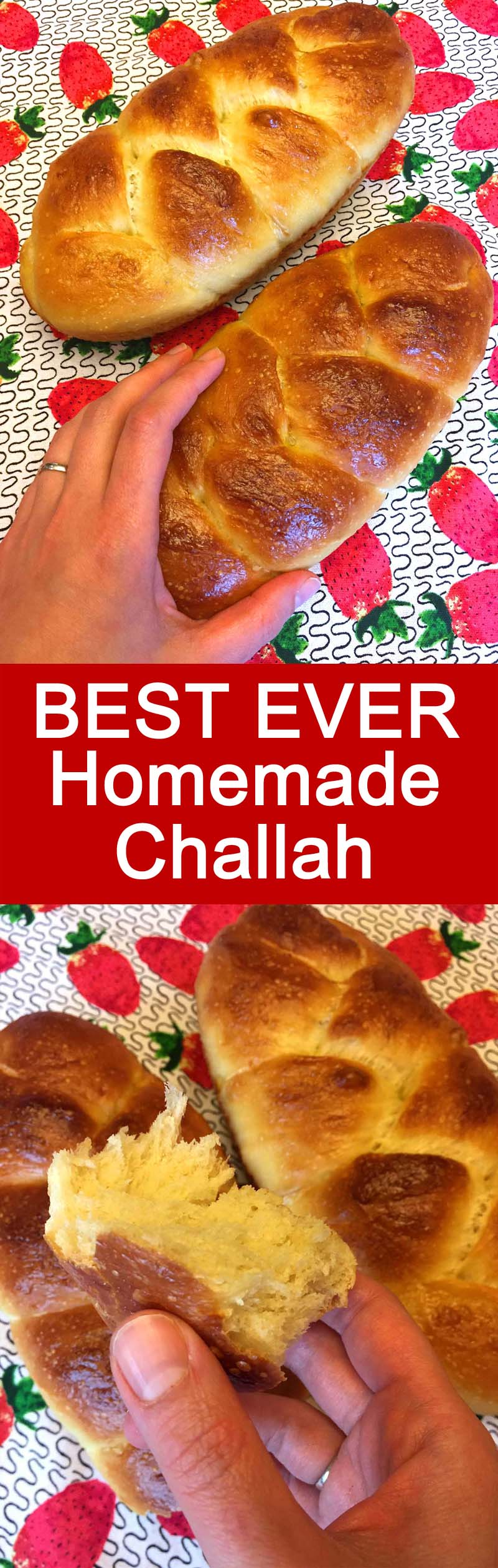 This homemade challah is so soft and delicious! This is the best homemade challah bread recipe ever!
