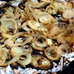 Grilled Marinated Onion Slices In Foil
