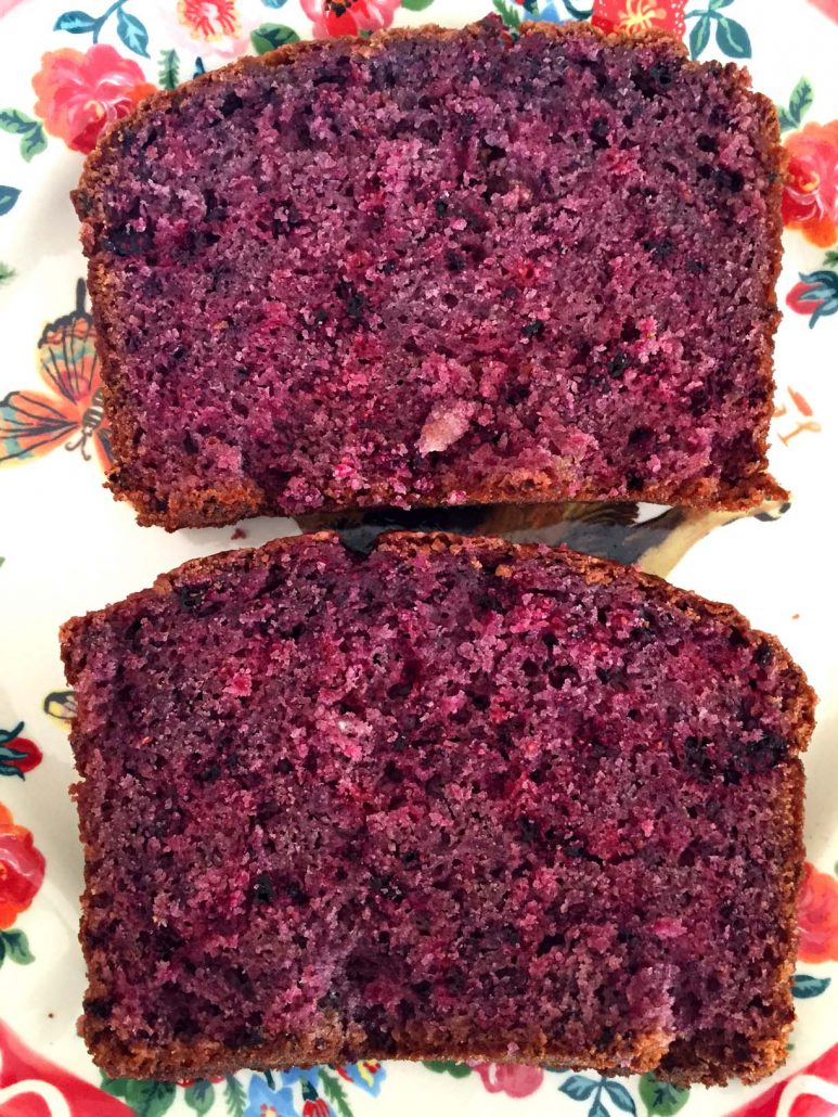 Bread With Real Fresh Blackberries
