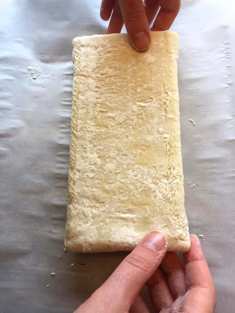 Making Chocolate Puff Pastry Roll
