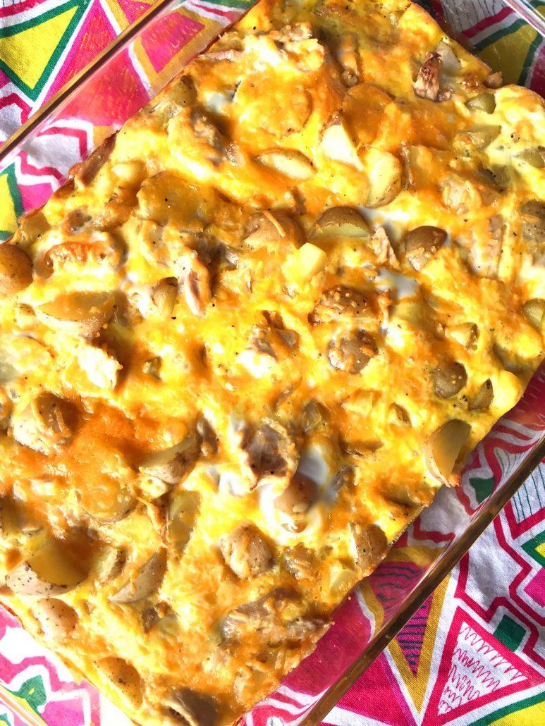 Chicken Potato Egg Breakfast Casserole Easy Recipe