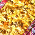 Eggs Potatoes Chicken & Cheese Baked Breakfast Casserole Recipe
