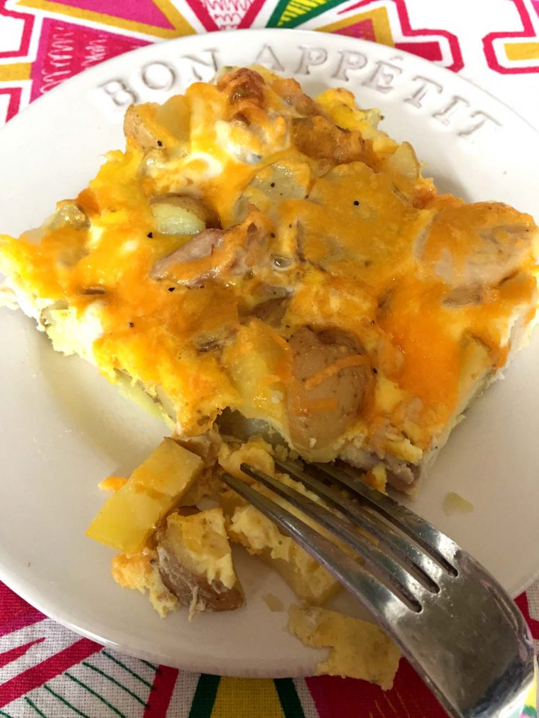 Eggs Potatoes Chicken Amp Cheese Baked Breakfast Casserole