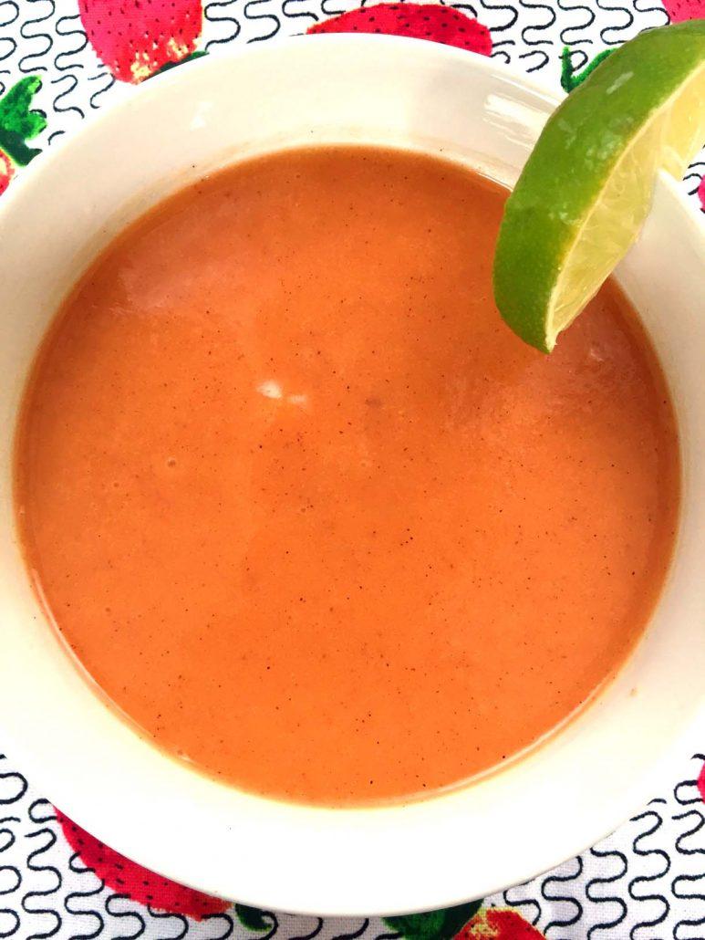 Cold Peach Soup With Yogurt