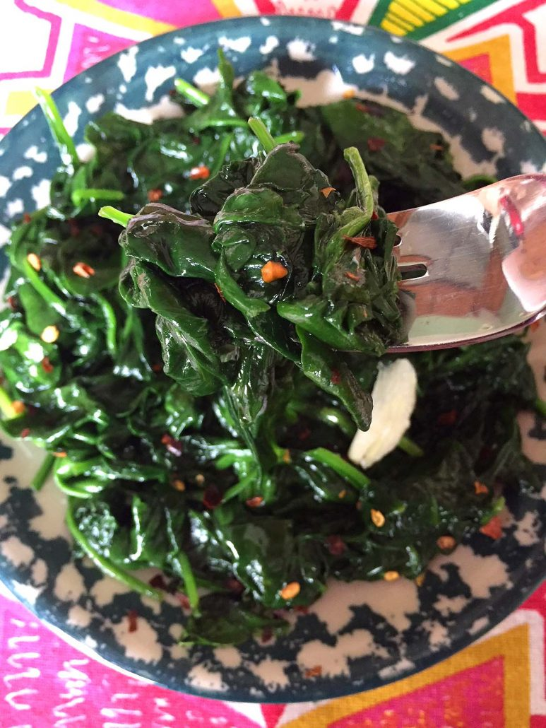 Spicy Garlic Sauteed Spinach Recipe - So Easy, Healthy And Yummy!