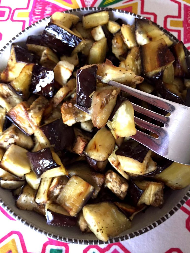 How To Roast Eggplant Pieces