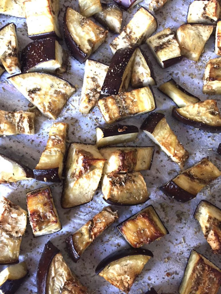 Easy Healthy Roasted Eggplant Cubes Recipe – Melanie Cooks