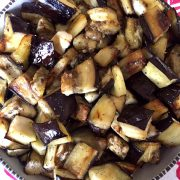 Oven Roasted Eggplant Cubes
