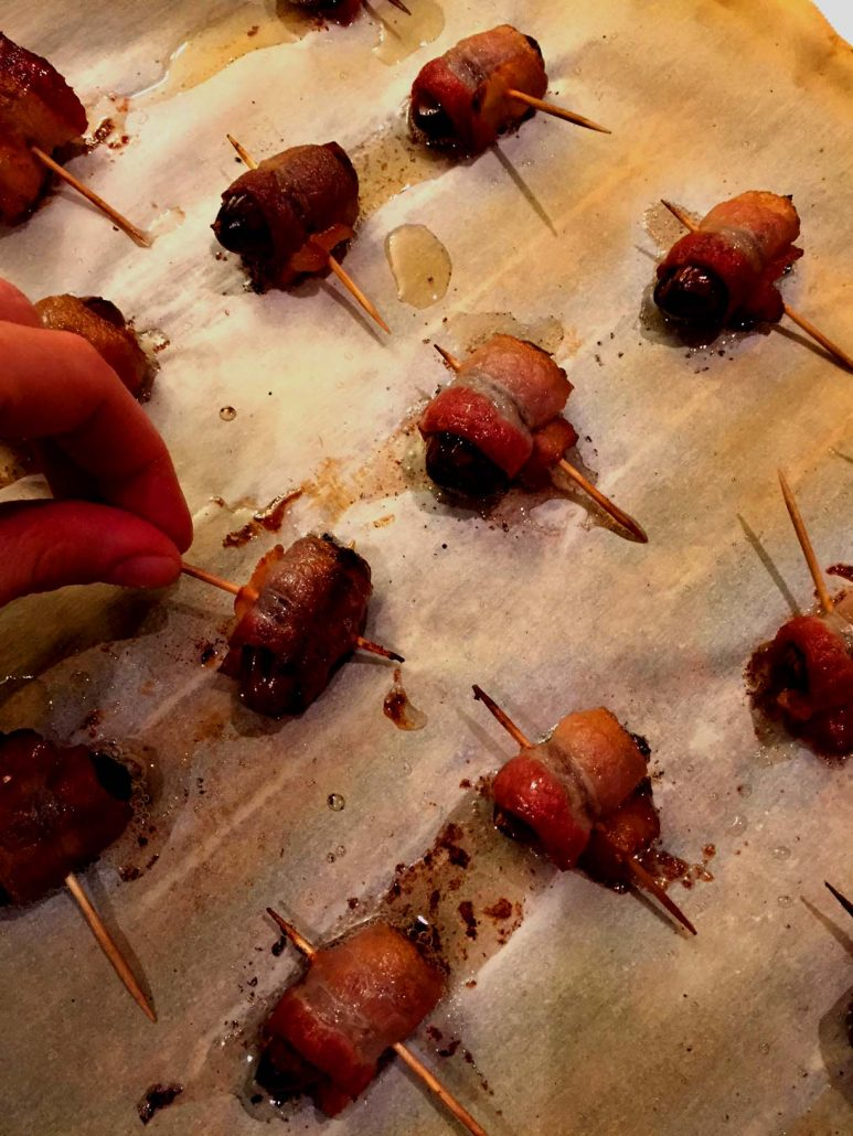 Easy 2 Ingredient Bacon Wrapped Dates Recipe