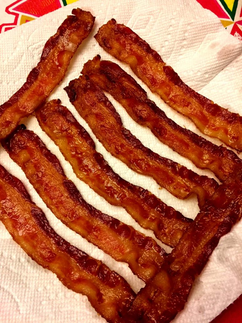 Baked Bacon On Paper Towels