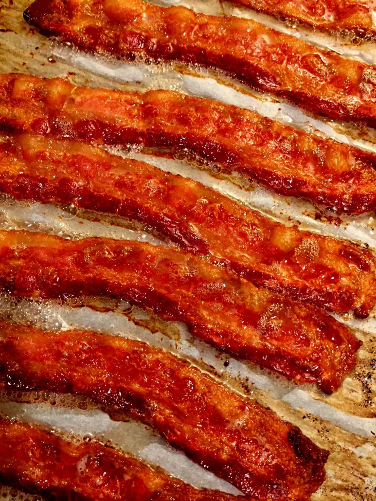 Crispy baked bacon how to cook bacon in the oven melanie cooks oven baked bacon recipe ccuart Images