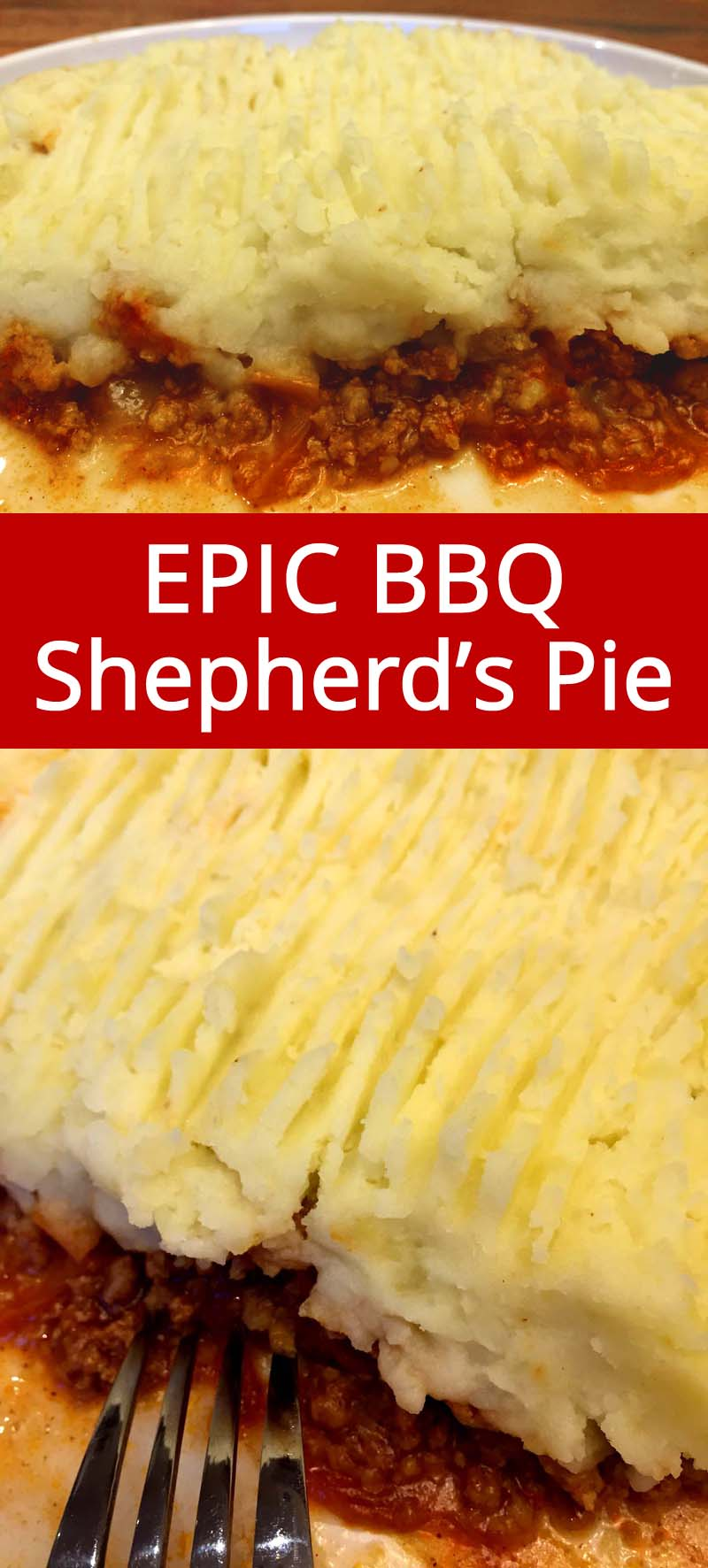 This ground beef BBQ shepherd's pie recipe is amazing! I love a good shepherd's pie, it's such a classic comfort food! This barbecue version is mouthwatering!