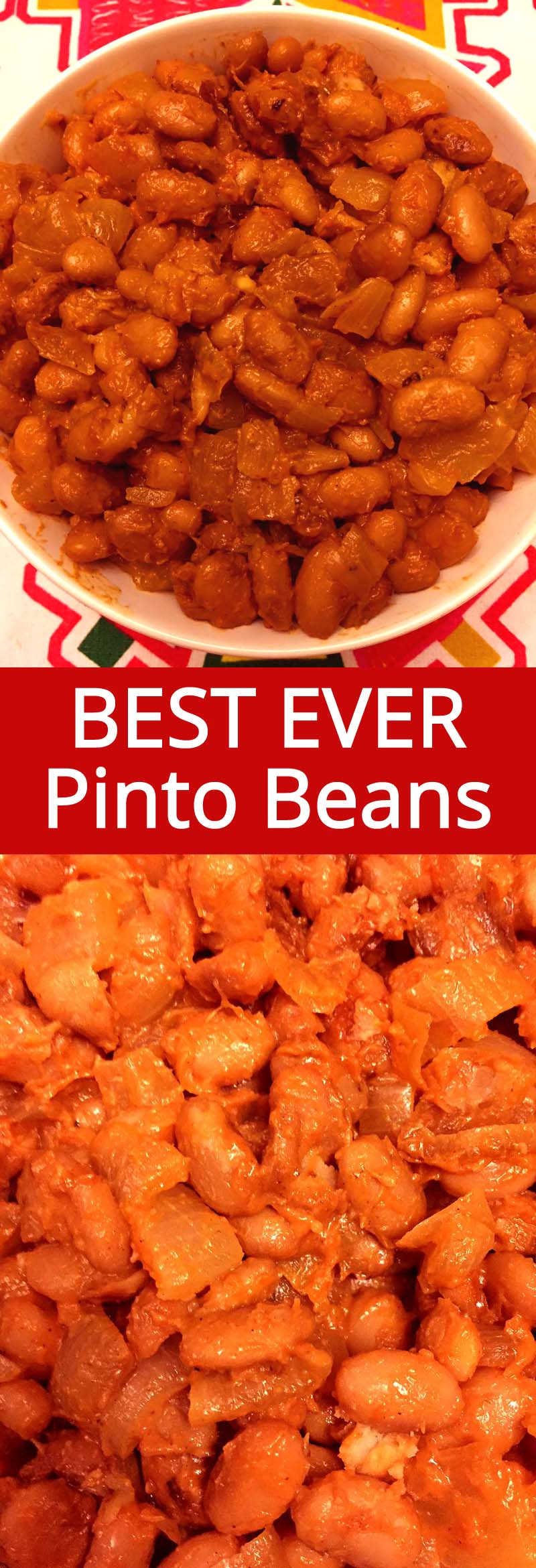 These simple pinto beans with onions are mouthwatering! This is my favorite pinto beans recipe, so easy to make and so delicious!