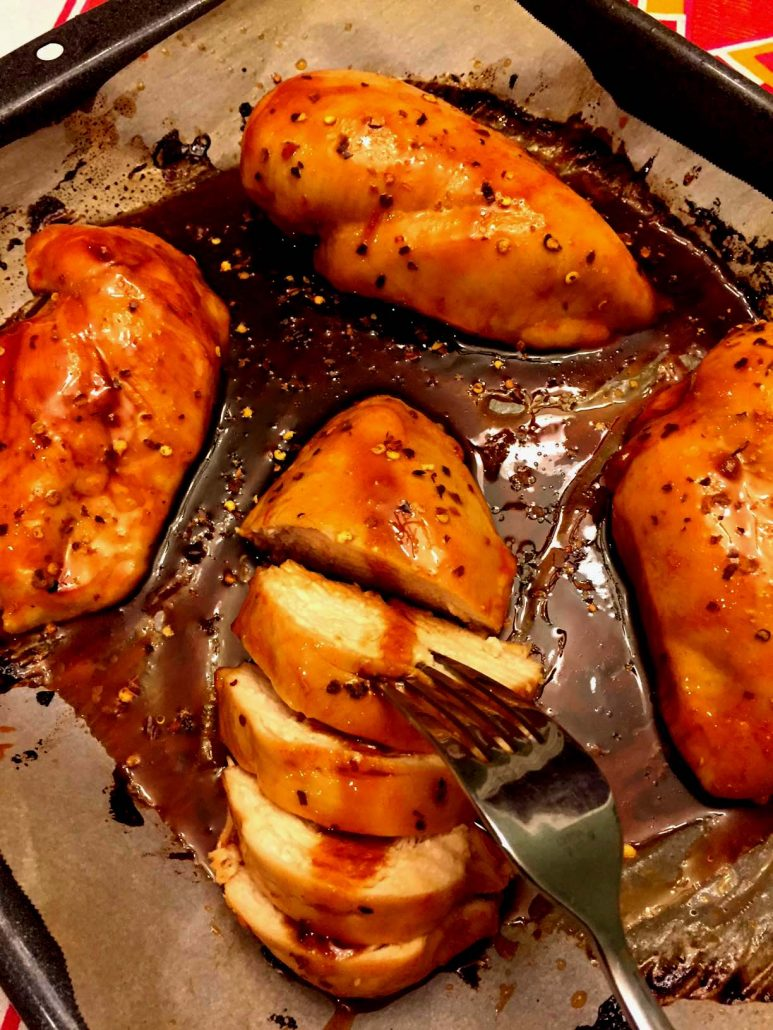 Easy Sweet Spicy Baked Chicken