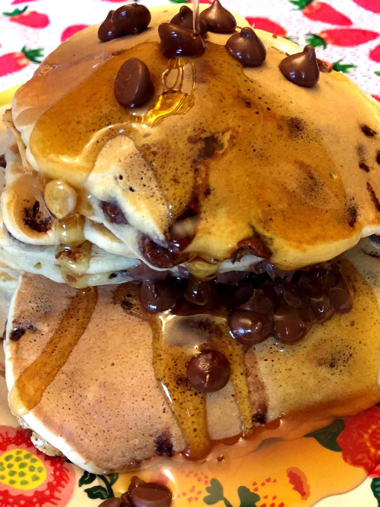 Easy Chocolate Chip Pancakes Recipe From Scratch Melanie