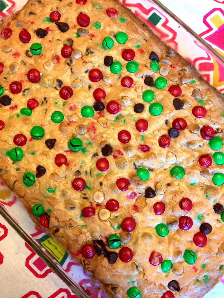easy M&M's cookie bars