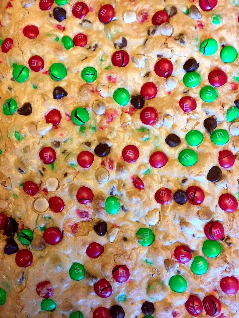Christmas M M S Cookie Bars Recipe