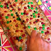 Christmas M&M's Cookie Bars Recipe