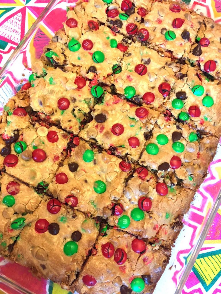 Christmas red and green M&M's bars