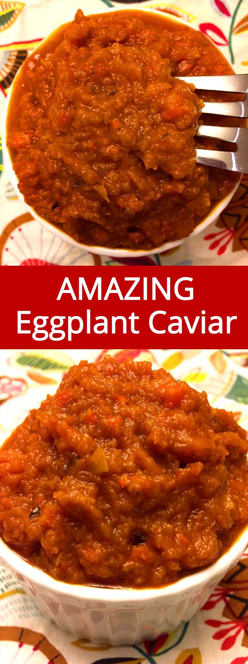 This is an authentic Russian recipe for eggplant caviar spread! This stuff is so delicious and addictive, you just can't stop eating it! Great as a dip, sauce or a spread, I just can't get enough of the eggplant caviar!