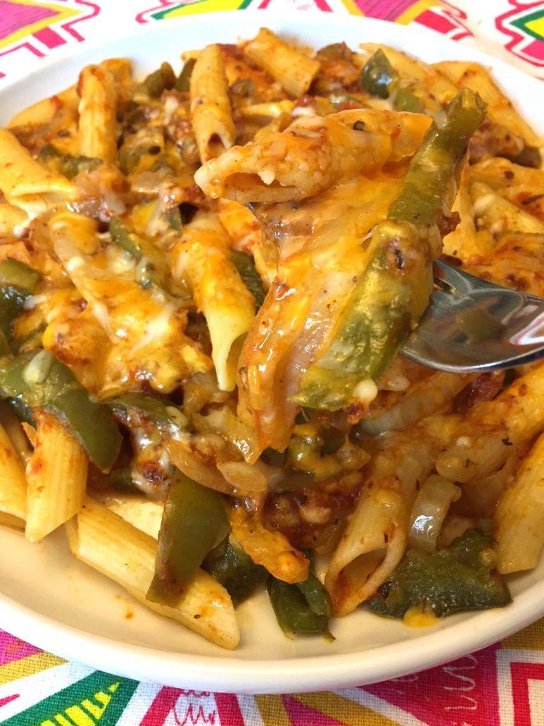 Spicy Mexican Pasta With Taco Cheese