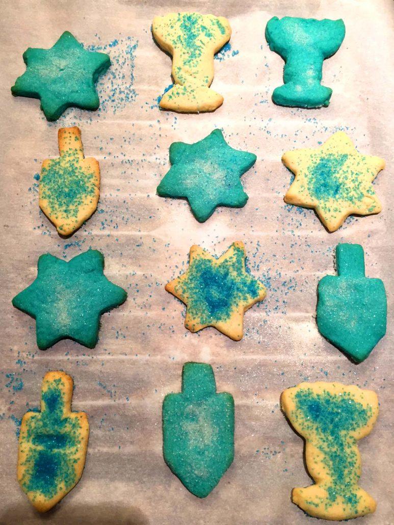 Blue Hanukkah Cookies