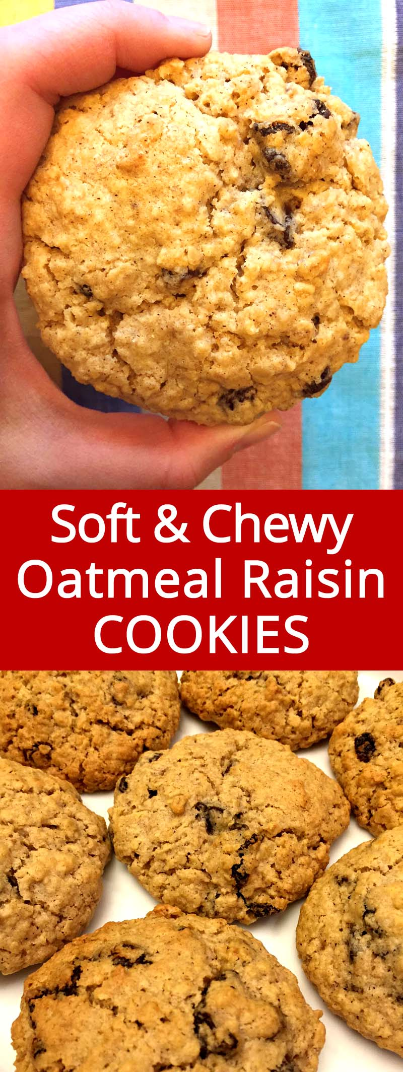 These easy oatmeal raisin cookies are amazing! They are so soft and chewy, the texture is simply perfect! Once you'll try these soft oatmeal raisin cookies, you'll never make them any other way!