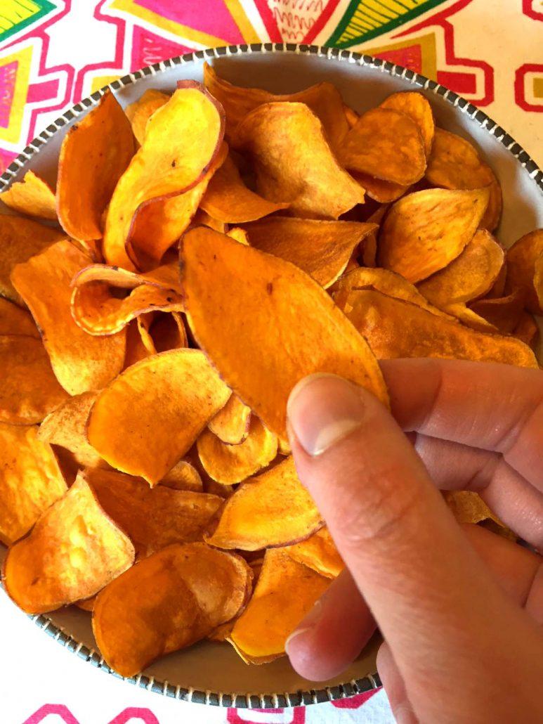 Crispy Baked Sweet Potato Chips Recipe