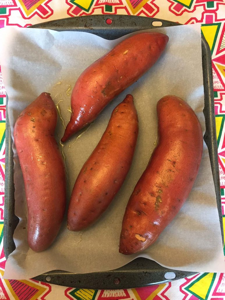 Oil Rubbed Sweet Potatoes