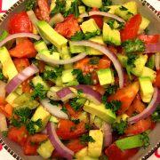 Tomato Cucumber Avocado Salad Recipe