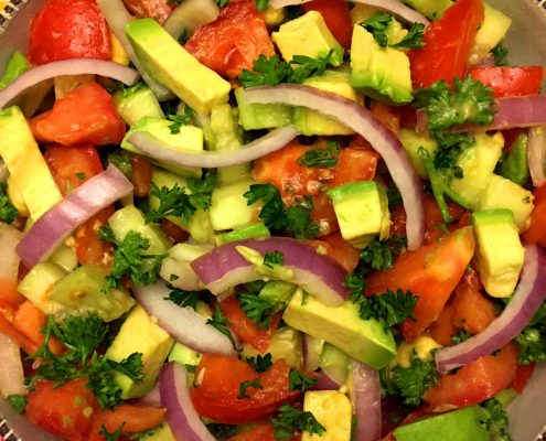 Tomato Cucumber Avocado Salad Recipe