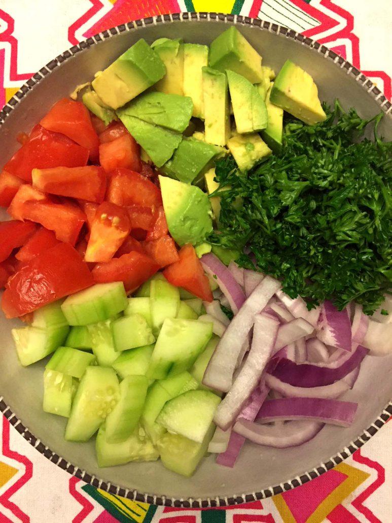 How To Make Tomato Cucumber Avocado Salad