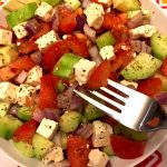 Tomato Cucumber Feta Cheese Greek Salad Recipe