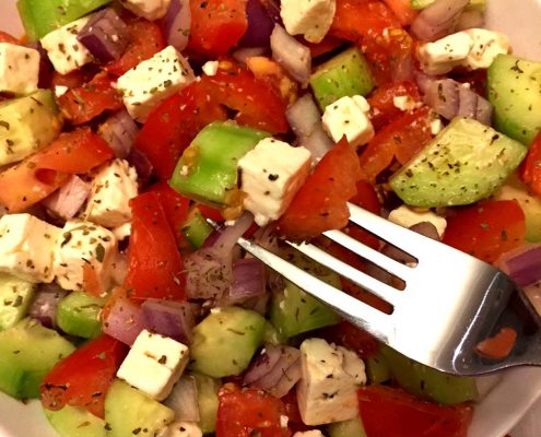 Tomato Cucumber And Feta Cheese Greek Salad Recipe