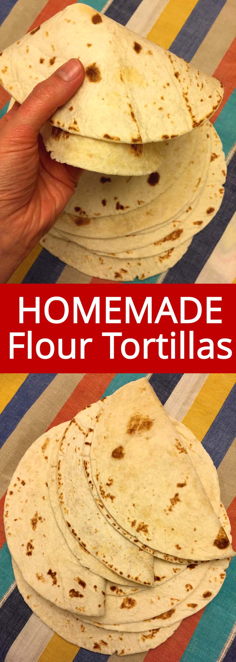 Homemade flour tortillas taste so much better than store-bought! Fresh warm Mexican tortillas are so delicious and they are really easy to make too!