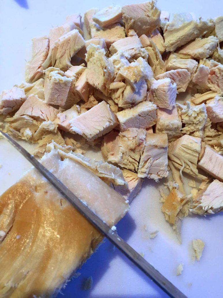 Chopping Turkey Breast