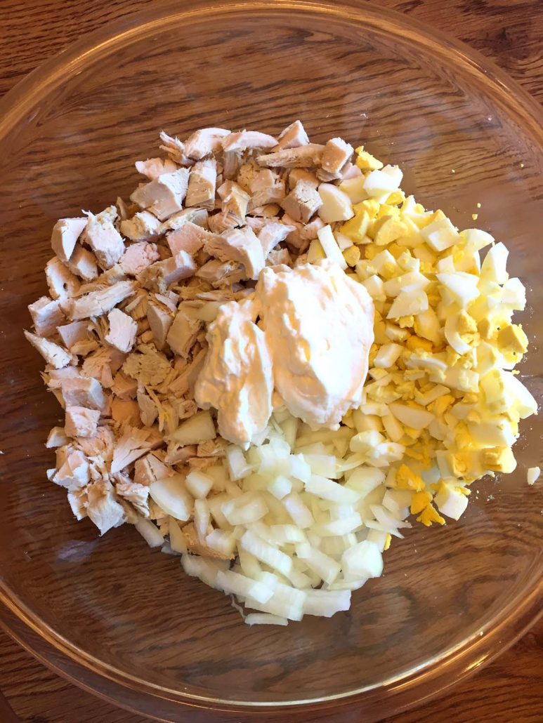 Turkey salad ingredients