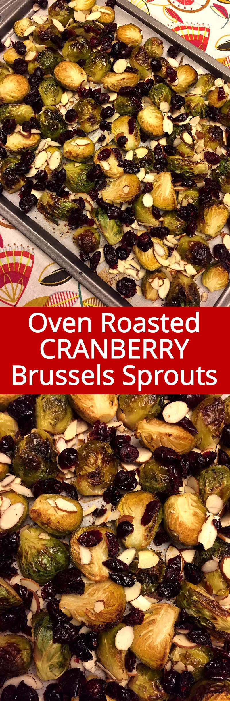 These amazing balsamic brussels sprouts are oven roasted to perfection with dried cranberries and almonds! They taste so deep and caramelized, mouthwatering! This is my favorite way of eating brussels sprouts!