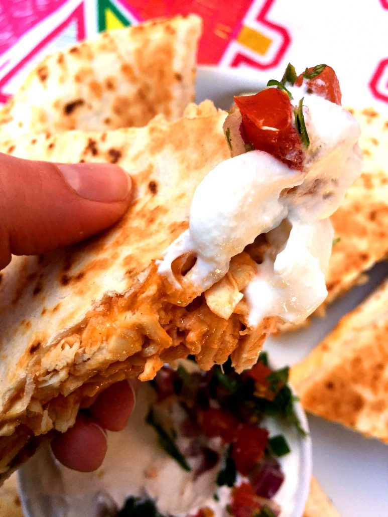 Easy Buffalo Chicken Quesadillas Recipe