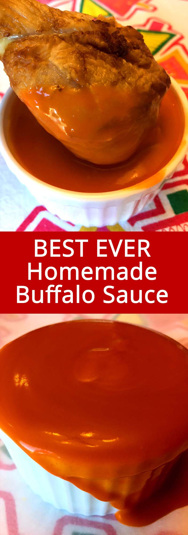 This homemade Buffalo sauce recipe makes the best Buffalo wings sauce ever! So spicy and full of flavor, I'll never have the bottled Buffalo sauce ever again!