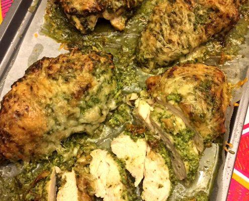 Easy Baked Pesto Parmesan Chicken Recipe