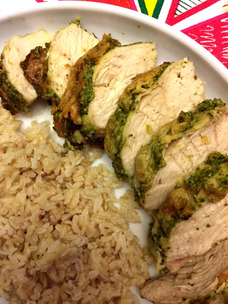 Baked Pesto Chicken With Rice