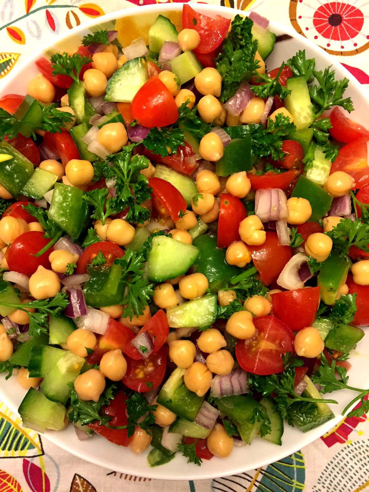Mediterranean Chickpea Salad Recipe - Simple, Healthy ...